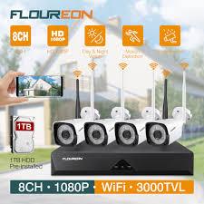 <b>FLOUREON</b> 8CH 1080P <b>Wireless CCTV</b> Home Security Camera ...