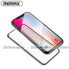 <b>Защитное стекло</b> для iPhone XS Max 6.5 с тонкой черной рамкой ...