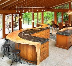 chunky natural wood kitchen bar designs beautiful rustic kitchen design design kitchens designs small ideas home amazing rustic small home