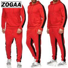 <b>ZOGAA 2019 New Men</b> 2 Parts Sporting Suit Hoodies Sets Mens ...