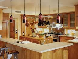 wine glass shape pendant lamp over kitchen breakfast bar large size attractive kitchen bench lighting