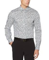 Perry Ellis <b>Slim Fit Mini</b> Floral Print Stretch Shirt