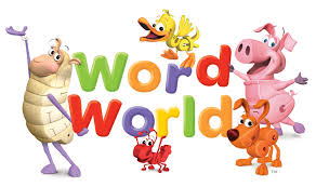 Image of the characters of Sheep, Duck, Pig, Dog, and Ant surrounding the Word World logo