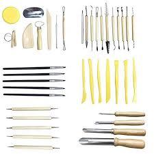 <b>40 Pcs Professional Clay</b> Pottery Sculpting Tools Set Wax Pottery ...
