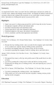 professional jewelry sales associate templates to showcase your    resume templates  jewelry sales associate