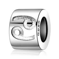 <b>JewelryPalace 925 Sterling</b> Silver Engraved <b>Zodiac</b> Cancer Bead ...