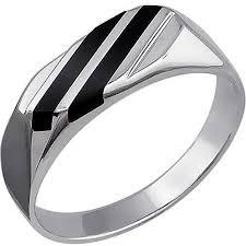<b>Кольцо с 2 ониксами</b> из серебра, геометрия (2 камней, серебро ...