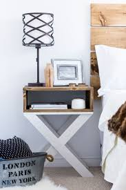furniture fascinating table lamp on interesting building a nightstand design beside double bed and wooden amusing white bedroom design fur rug
