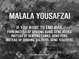 Malala Yousafzai Peace Quotes | Inspiration Boost | Inspiration Boost