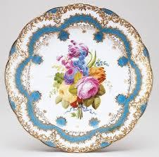 Антикварная посуда из севрского фарфора с позолотой ...