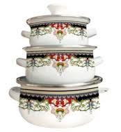 <b>Наборы эмалированной посуды</b> с чайником купить в интернет ...