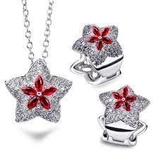 China <b>Custom</b> Design <b>925 Sterling Silver</b> Star Jewelry Set Ruby ...