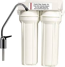 Crystal Clear Fluoride Removal Dual Undercounter Water <b>Filter</b> ...