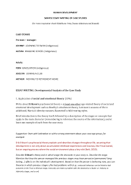 How to Write Case Study Paper Template net