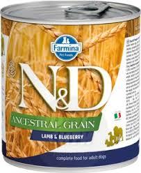 <b>Фармина N&D</b> Dog Ancestral Grain Lamb & Blueberry <b>консервы</b> ...