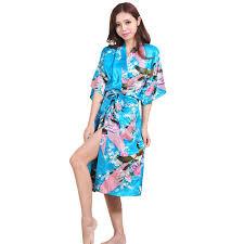 <b>Sexy</b> Printed Female <b>Mini Silk Robe</b> Rayon <b>Kimono</b> Yukata Night ...