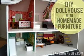 modern diy dollhouse with homemade furniture cheap wooden dollhouse furniture