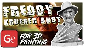 <b>Freddy Krueger</b> Bust 3D Miniature | Presentation by Gambody ...