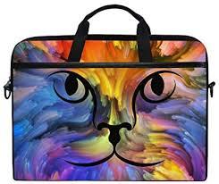 HaJie <b>Laptop</b> Bag Art <b>Rainbow Color</b> Cat Face Computer: Amazon ...