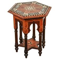 marche moorish tapestry sofa alhambra spanish marquetry wood side moorish table