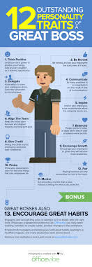 personality traits that make you a rock star boss infographic 12 personality traits of a great boss