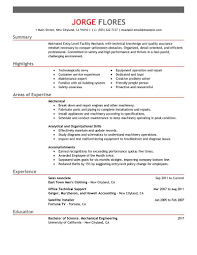example of a mechanics resume sample cvs sample curriculum vitae example of a mechanics resume automotive technician resume sample my perfect resume resume examples entry level