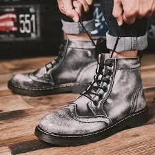 Casual Soft <b>Genuine Leather Round</b> Toe Martin Boots – tatunis