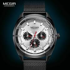 <b>MEGIR</b> Army <b>Quartz</b> Watches <b>Men</b> Top Brand Luxury Chronograph ...