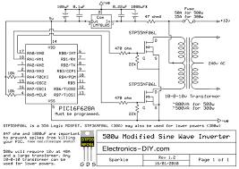 modified sine wave inverter Sine Wave Inverter Circuit Diagram 500w modified sine wave inverter sine wave inverter circuit diagramusing 555