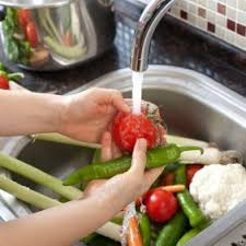 Image result for Wash your fruits and vegetables in a pan of water