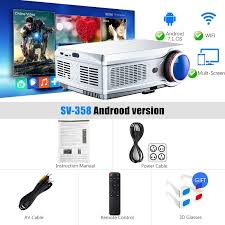 SV358 Full HD Projector 1080P LED proyector 3D Video Beamer ...