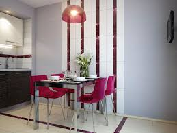 small dining bench: small kitchen dining design showing minimalist white dining bench and white kitchen counter