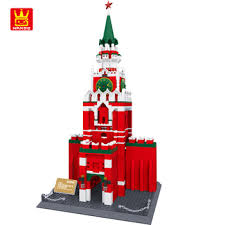 Купить <b>The</b> Spasskaya Tower of <b>Moscow Kremlin</b> Building Blocks ...