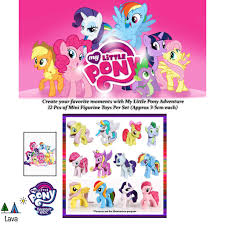 <b>12PCS</b>/<b>Set</b> (3-5cm) <b>My Cute</b> Little Pony Cake Toppers Toys ...