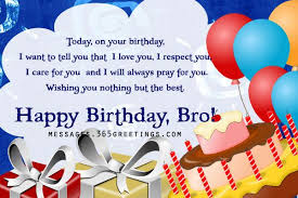 Birthday Wishes for Brother Messages, Greetings and Wishes ... via Relatably.com