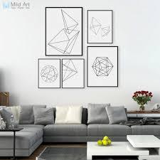 Minimalist Black White <b>Geometric Line</b> Shape Poster Print Modern ...