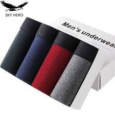 <b>4pcs</b>/<b>lot</b> SKYHERO <b>Male Panties Cotton Men's Underwear</b> Boxers ...