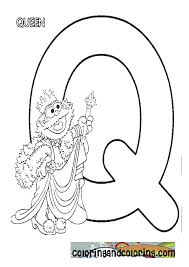 Small Picture Sesame Street Letter Q Coloring Coloring Pages
