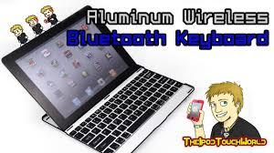 <b>Aluminium</b> Wireless <b>Bluetooth Keyboard</b> For The New iPad - YouTube
