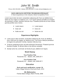simple resume templates best professional resume simple resume template