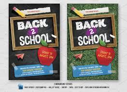 back to school flyer flyer templates on creative market back 2 school flyer