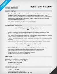 bank teller resume sample resume sample bank teller