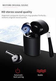 <b>Tws Wireless Bluetooth 5.0</b> Mini Earphones Touch Control HD ...