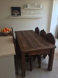 Solid Wood Dining Room Table Real Wood Kitchen Table Classic Solid Brown Glossy Wooden Kitchen
