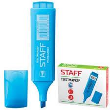 Т/выделитель <b>STAFF</b>, широкий корпус Голубой, т/л 1-5мм (12 ...