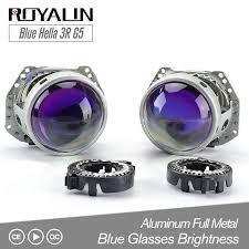 <b>ROYALIN Car styling Blue Hella</b> 3R G5 Bi xenon Headlights D2S ...