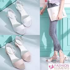 Ready Stock <b>Women</b> Sandal Korean Style Rome <b>Shoes Fish Mouth</b> ...