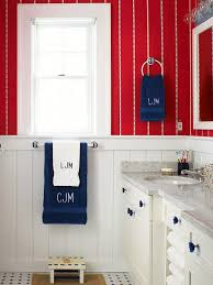 decor red blue room full: decorating with color red white and blue red wallpaper over white beadboard are