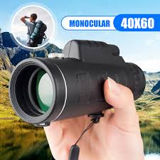 Portable <b>40X60 High</b> Over Monocular Telescope Black Outdoor ...