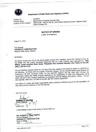 civil works notice of award department of public works and palawan 3rd district engineering office 16eg0054 notice of award